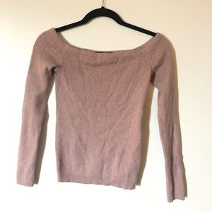 Off the shoulder long sleeve sweater size s